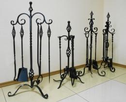 Кованые каминные наборы, дровницы, решетки №65