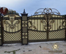 Кованые ворота в Воронеже №212