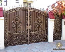 Кованые ворота в Воронеже №198