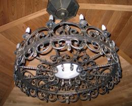 Кованые люстры, фонари, светильники, подсвечники №6
