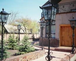 Кованые люстры, фонари, светильники, подсвечники №39