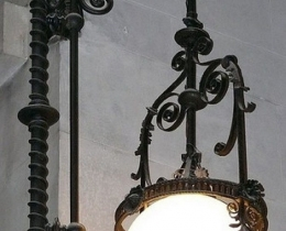 Кованые люстры, фонари, светильники, подсвечники №40