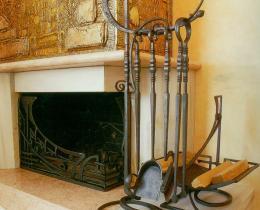 Кованые каминные наборы, дровницы, решетки №5