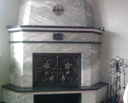 Кованые каминные наборы, дровницы, решетки №84