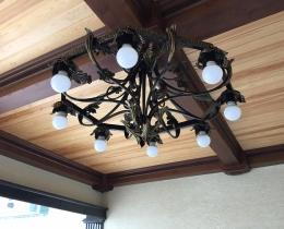 Кованые люстры, фонари, светильники, подсвечники №42