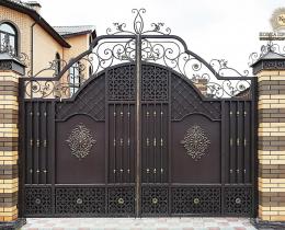 Кованые ворота в Воронеже №180