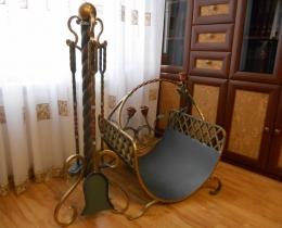 Кованые каминные наборы, дровницы, решетки №66