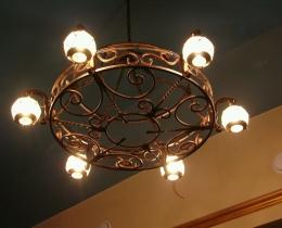 Кованые люстры, фонари, светильники, подсвечники №20