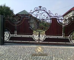 Кованые ворота в Воронеже №137