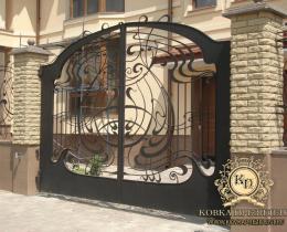Кованые ворота в Воронеже №108