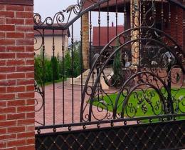 Кованые ворота в Воронеже №45