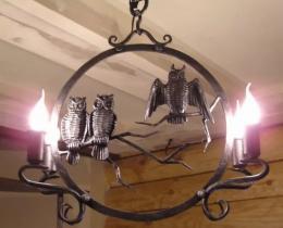 Кованые люстры, фонари, светильники, подсвечники №4