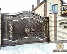 Кованые ворота в Воронеже №200