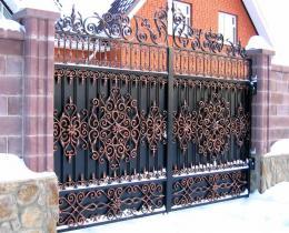Кованые ворота в Воронеже №41