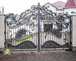 Кованые ворота в Воронеже №193