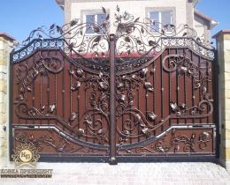 Кованые ворота в Воронеже №201