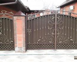 Кованые ворота в Воронеже №194