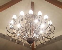 Кованые люстры, фонари, светильники, подсвечники №48
