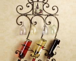 Кованые винницы, подставки под вино №14
