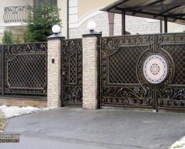 Кованые ворота в Воронеже №182