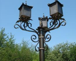 Кованые люстры, фонари, светильники, подсвечники №21