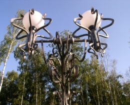 Кованые люстры, фонари, светильники, подсвечники №53