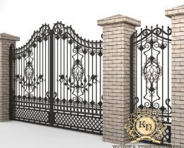 Кованые ворота в Воронеже №113