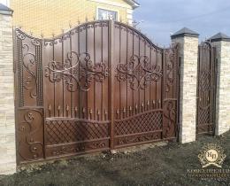 Кованые ворота в Воронеже №205