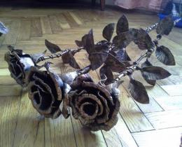 Кованые цветы в Воронеже №2