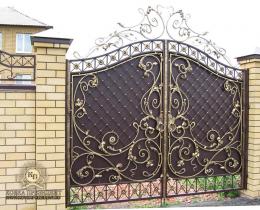 Кованые ворота в Воронеже №206