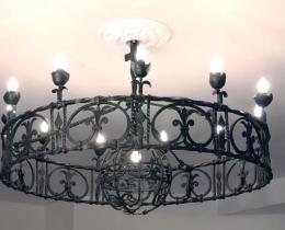 Кованые люстры, фонари, светильники, подсвечники №5