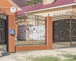 Кованые ворота в Воронеже №183