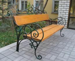 Кованые скамейки в Воронеже №6