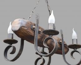 Кованые люстры, фонари, светильники, подсвечники №60