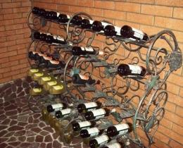 Кованые винницы, подставки под вино №19
