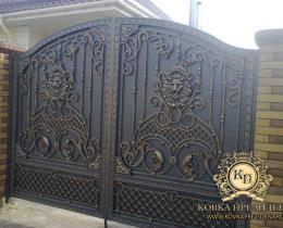 Кованые ворота в Воронеже №120