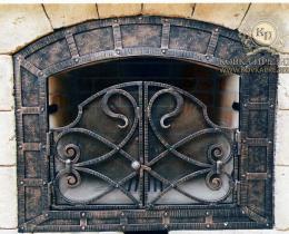 Кованые каминные наборы, дровницы, решетки №33