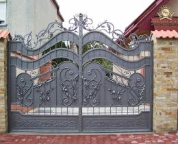 Кованые ворота в Воронеже №186