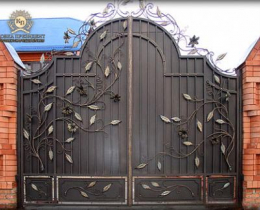 Кованые ворота в Воронеже №185