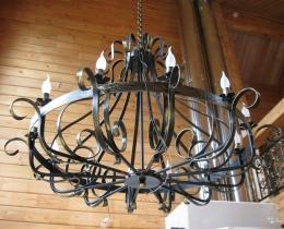 Кованые люстры, фонари, светильники, подсвечники №61