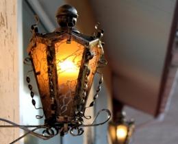 Кованые люстры, фонари, светильники, подсвечники №62