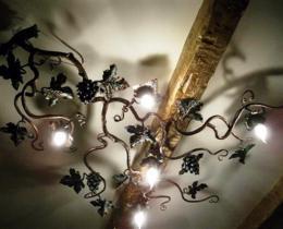 Кованые люстры, фонари, светильники, подсвечники №8