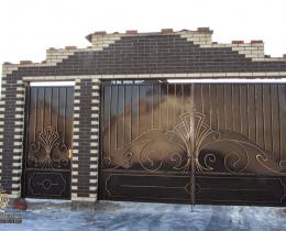 Кованые ворота в Воронеже №187