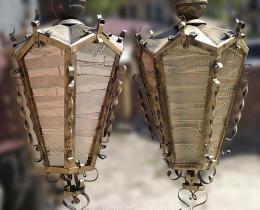 Кованые люстры, фонари, светильники, подсвечники №25