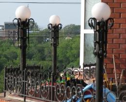 Кованые люстры, фонари, светильники, подсвечники №63