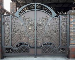 Кованые ворота в Воронеже №197