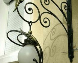 Кованые люстры, фонари, светильники, подсвечники №69