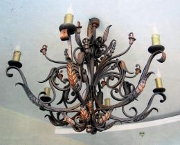 Кованые люстры, фонари, светильники, подсвечники №3