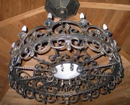 Кованые люстры, фонари, светильники, подсвечники №111