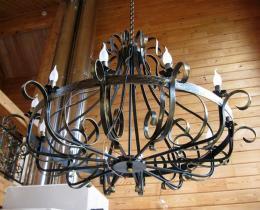 Кованые люстры, фонари, светильники, подсвечники №12